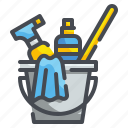 bubbles, bucket, clean, cleaning, sponge, wash, washing