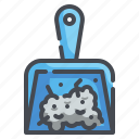 broom, clean, cleaning, dustpan, hygiene, miscellaneous, sweep icon