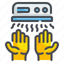 bathroom, blow, dryer, electronics, hand, heat, hygiene icon