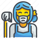 cleaning, homemaker, housekeeper, housemaid, housewife, maid, matron icon