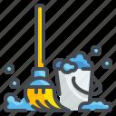 bucket, clean, cleaning, floor, household, housekeeping, mop