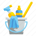 bubbles, bucket, clean, cleaning, sponge, wash, washing icon
