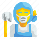 homemaker, maid, cleaning, housekeeper, housewife, matron, housemaid icon