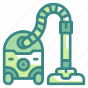 cleaner, cleaning, dust, hoover, housework, sweeping, vacuum icon