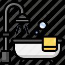 bath, bathroom, clean, shower, washing