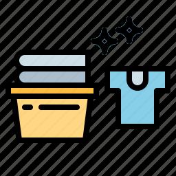 basket, cleaning, laundry, washing icon