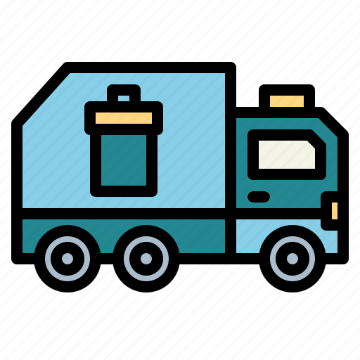 garbage, recycling, transportation, truck icon