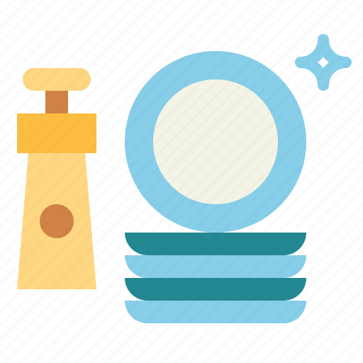 clean, cleaning, dishes, liquid, plate, washing icon