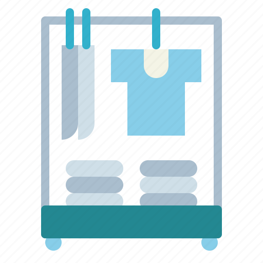 clothes, coat, rack, stand icon