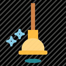equipment, plumber, plunger, repair, toilet icon