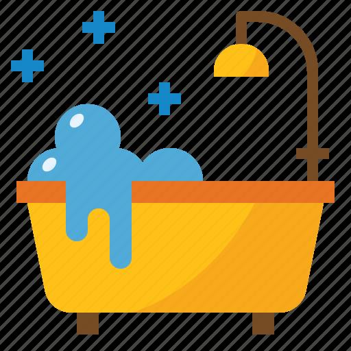 bathroom, bathtub, cleaning, shower icon