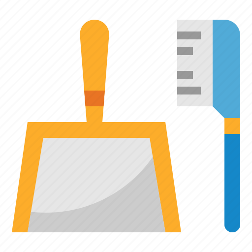 brush, clean, cleaning, dustpan, wash icon
