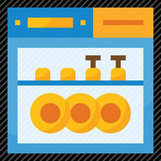 cleaning, dishwasher, household, kitchen, machine, washer icon