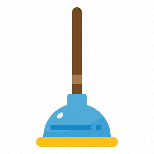 household, plunger, restroom, toilet icon