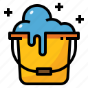 bucket, cleaning, housekeeping, washing, water icon