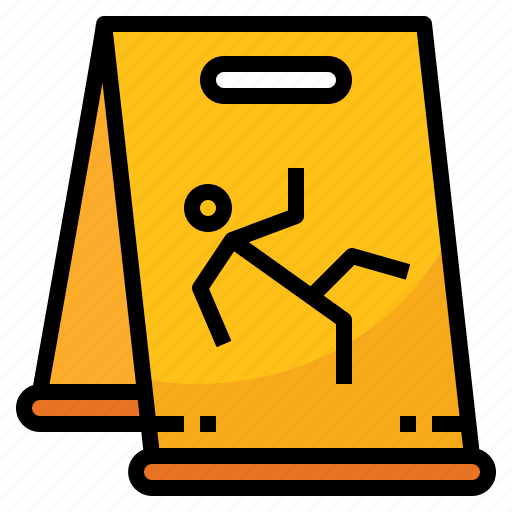caution, floor, slippery, warning, wet icon