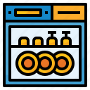 cleaning, dishwasher, household, kitchen, machine, washer icon