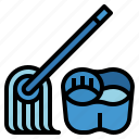bucket, clean, cleaning, housekeeper, mop icon