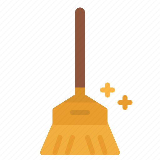 broom, clean, cleaner, cleaning, sweep, sweeping icon