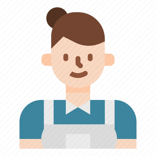 hotel, housekeeping, maid, services, staff icon