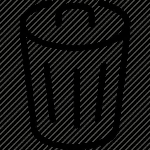 bin, garbage, litter, trash icon