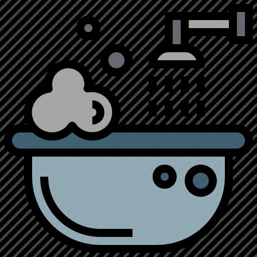 Bath, bathroom, bathtub, clean, hygiene, hygienic, washing icon - Download on Iconfinder