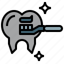 care, health, hygienic, medicine, miscellaneous, toothbrush, toothpaste icon