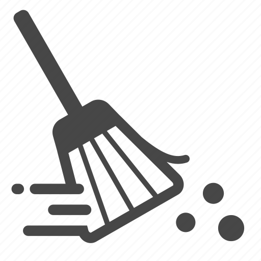 broom, brooming, clean, cleaner, cleaning, sweep, wipe icon