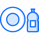 clean, cleaner, cleaning, dishes, plate, wash, washing icon