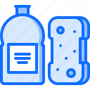 clean, cleaner, cleaning, dishwashing, liquid, sponge, wash icon