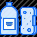 clean, cleaner, cleaning, dishwashing, liquid, sponge, wash