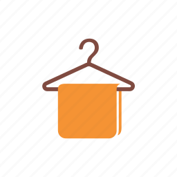 cleaning, clothes, hanger, home, housework, service, washing icon