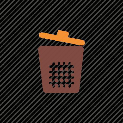 bin, cleaning, home, housework, sanitation, service, trash icon