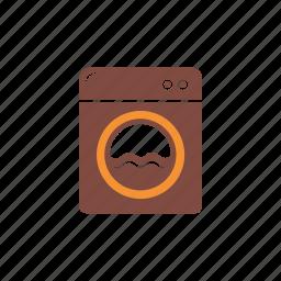 cleaning, housework, laundry, sanitation, service, washing, washing machine icon