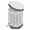 bin, dustbin, plastic bin, trash can, waste container icon