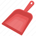 dust tray, dustpan, home cleaning, housekeeping, sweeping tool icon