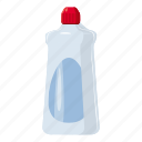 bottle, cartoon, detergent, gel, hygiene, laundry, liquid icon