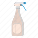 aerosol, bottle, cartoon, cleaner, plastic, spray, sprayer icon