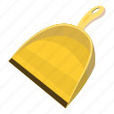 cartoon, clean, equipment, garbage, scoop, tool, work icon