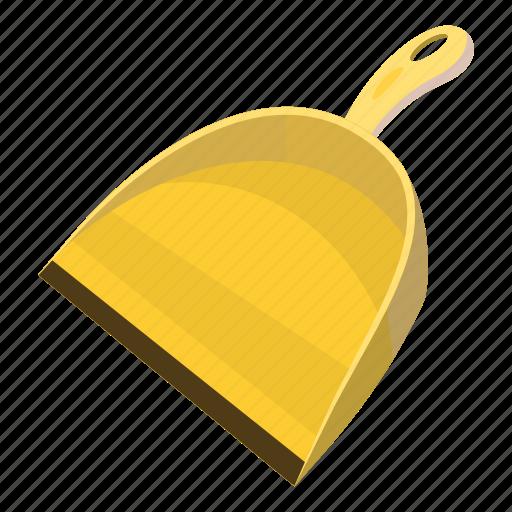 cartoon, clean, equipment, garbage, scoop, tool, work icon
