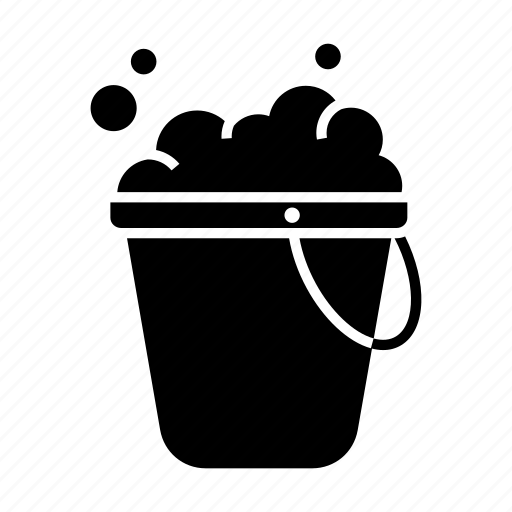 cleaner, cleaning, soap bucket, soapy water icon