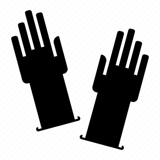 clothing, gloves, rubber gloves, washing gloves icon