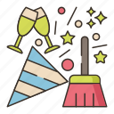 after, cleanup, party icon