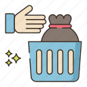 cleanliness, garbage, throw icon