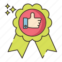 certificate, guarantee, label, satisfaction
