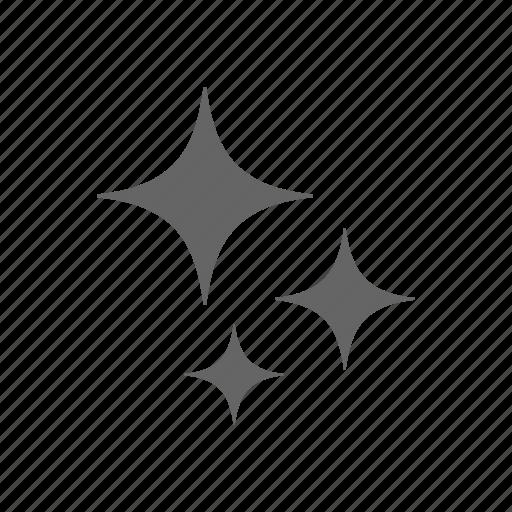 clean, glare, star icon