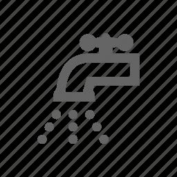scrubbing, water icon
