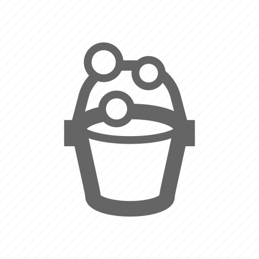 bucket, cleaning, liquid, soap icon