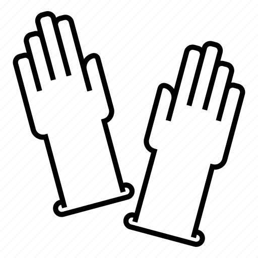 gloves, hand gloves, rubber gloves, washing gloves icon