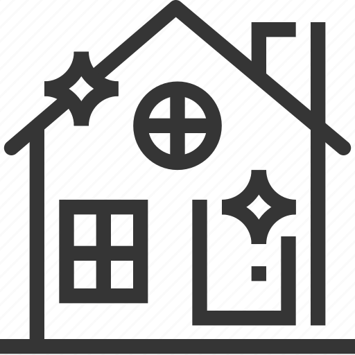 apartment, buildings, cleaning, estate, home, house, property icon